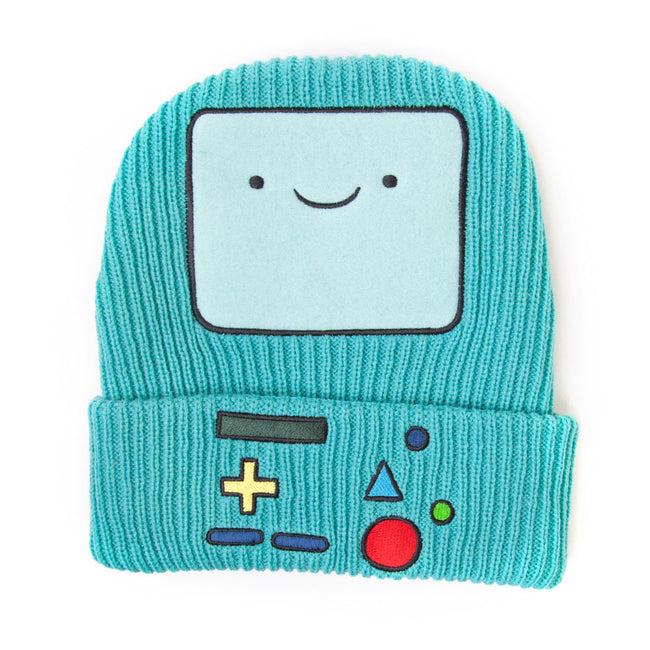 ADVENTURE TIME Beemo Video Game Console Cuffed Beanie, One Size, Turquoise (KC0SXFADV)