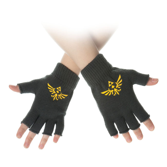 NINTENDO Legend of Zelda Royal Crest Fingerless Gloves, One Size