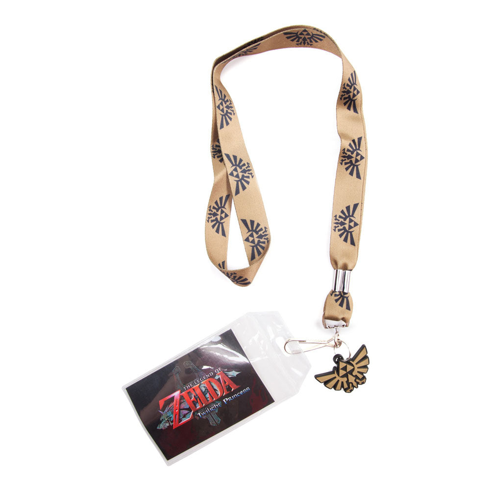 NINTENDO Legend of Zelda Twilight Princess Gold Royal Crest Lanyard, One Size, Gold/Black (JE178762NTN)