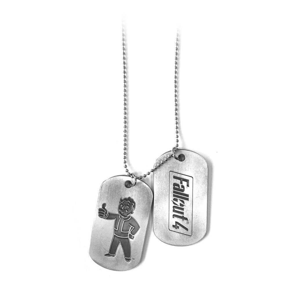 FALLOUT 4 Vault Boy Thumbs Up Dogtags, One Size, Silver/Metal