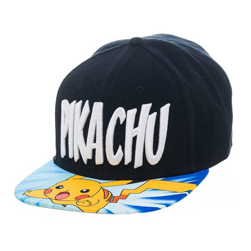 POKEMON Lightning Pikachu Snapback Baseball Cap, One Size, Multi-Colour (SB2H6GPOK)