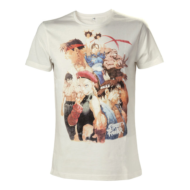 CAPCOM Street Fighter IV Character Roster T-Shirt, White