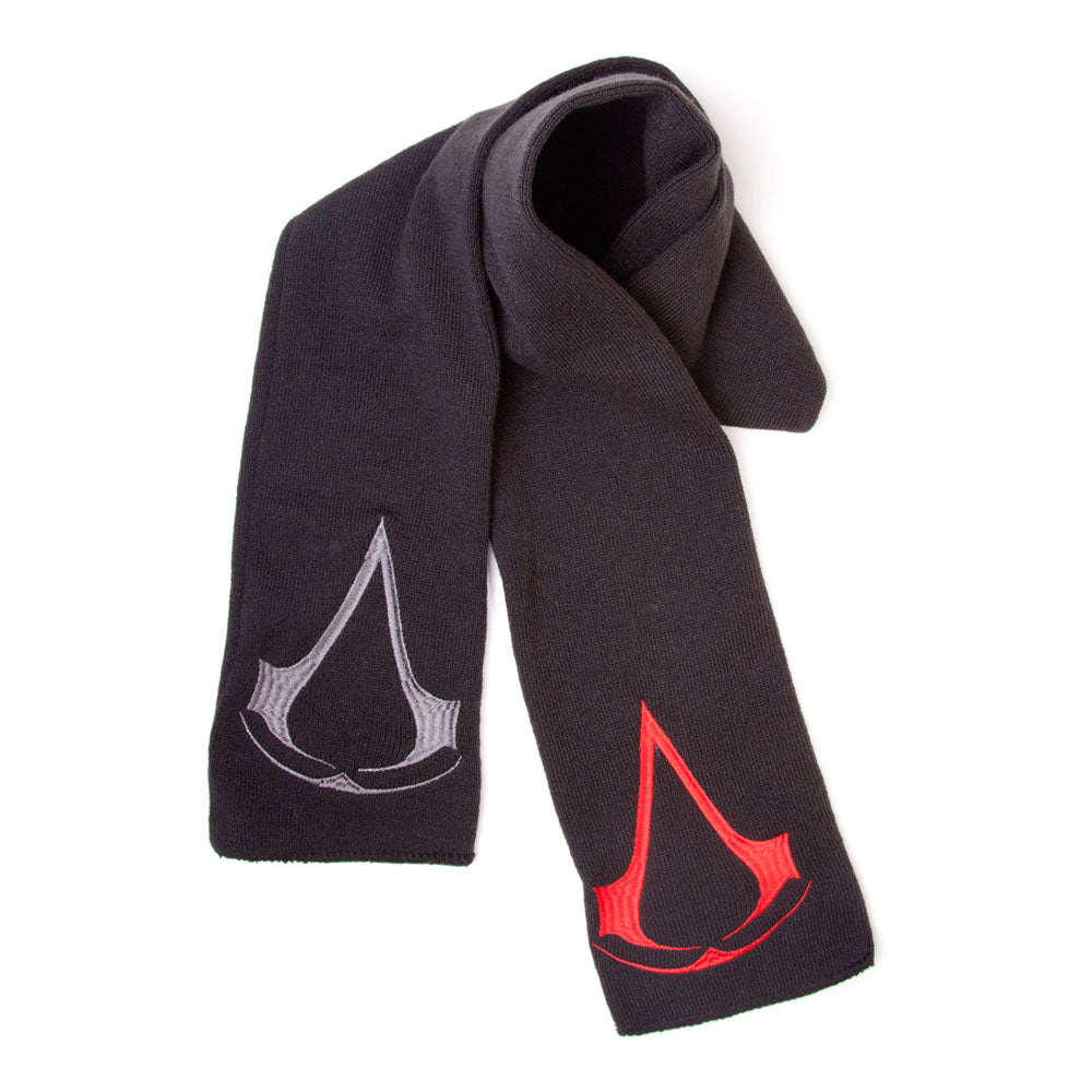 ASSASSIN'S CREED Brotherhood Crest Logos Scarf, One Size, Black