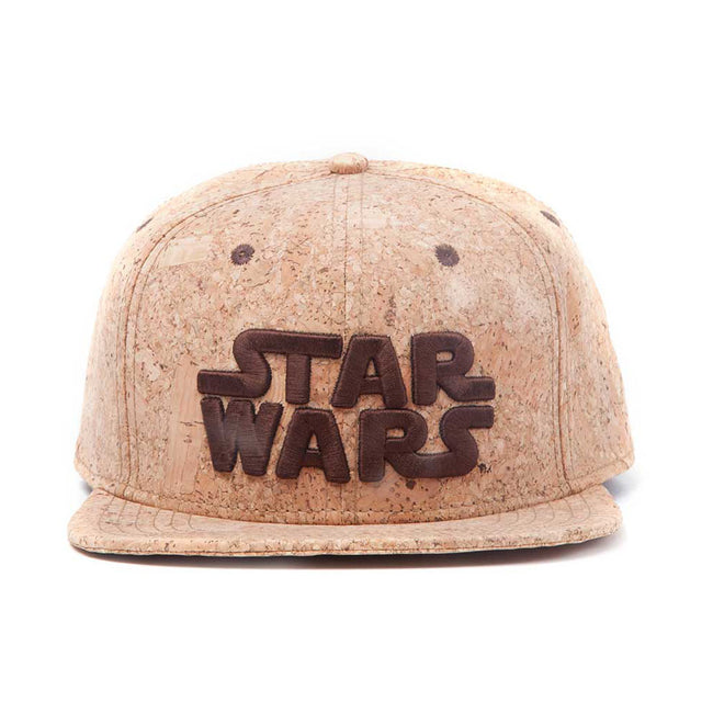 STAR WARS Embroidered Main Logo Snapback Baseball Cap, One Size, Tan/Cork