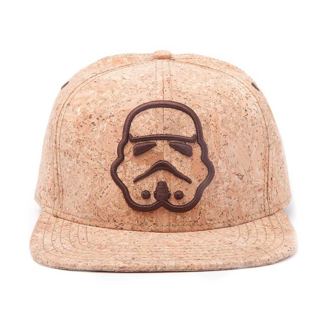 STAR WARS Embroidered Stormtrooper Silhouette Snapback Baseball Cap, One Size, Tan/Cork