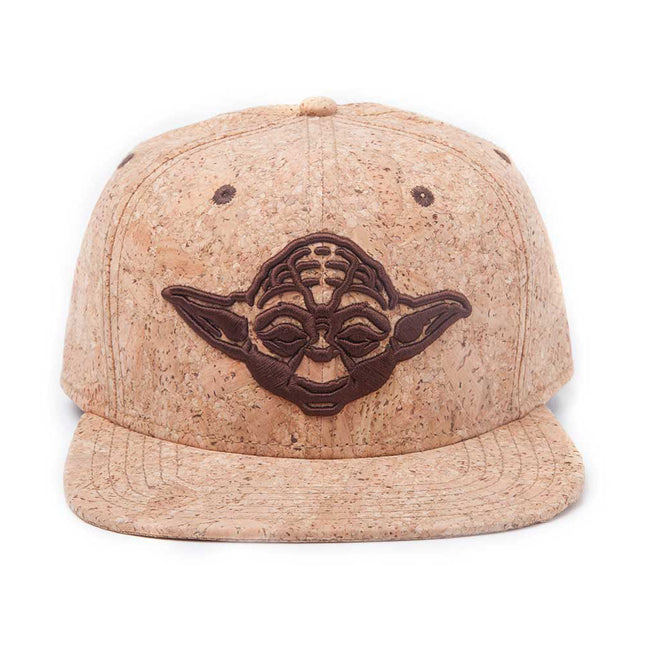 STAR WARS Embroidered Yoda Silhouette Snapback Baseball Cap, One Size, Tan/Cork