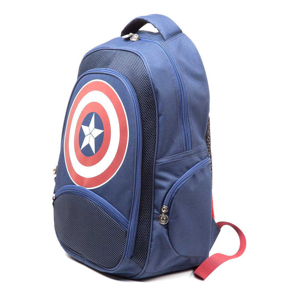 MARVEL COMICS Captain America: Civil War Shield Emblem Backpack, One Size, Blue/Red