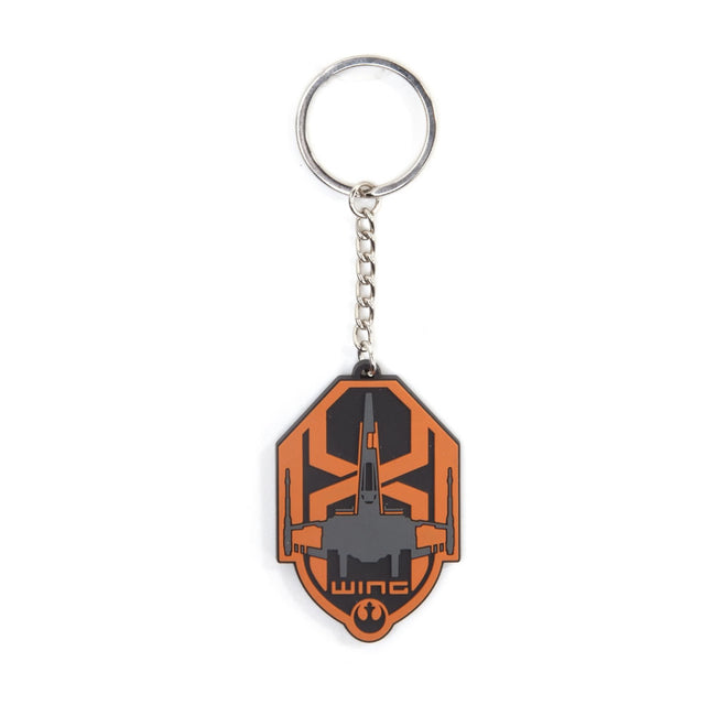 STAR WARS The Force Awakens X-Wing Logo Rubber Keychain, One Size, Multi-Colour