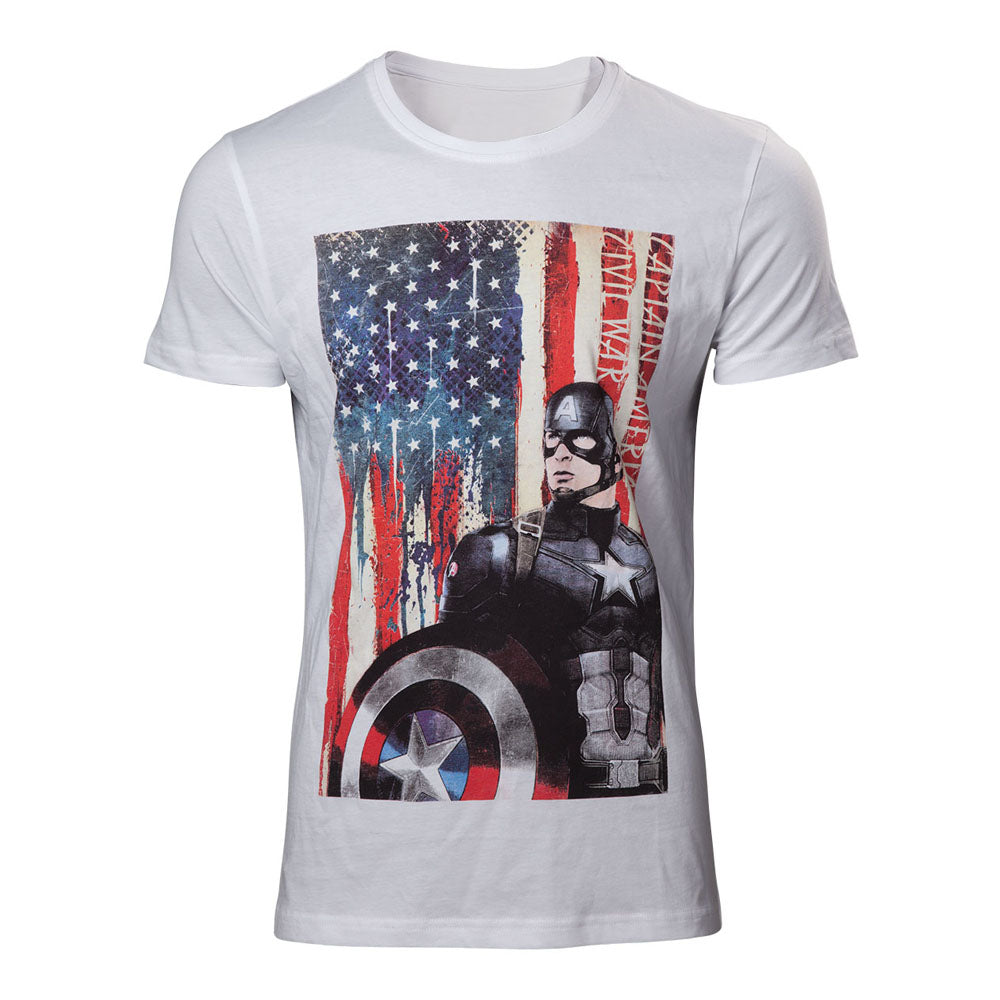 MARVEL COMICS Captain America: Civl War Stars and Stripes T-Shirt