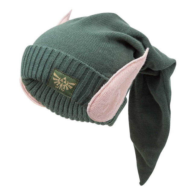 NINTENDO Legend of Zelda Eleven Beanie Hat with Ears, One Size, Green