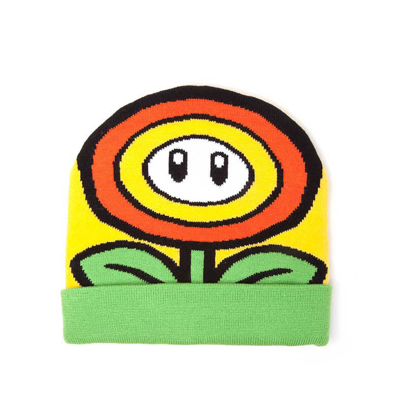 NINTENDO Super Mario Bros. Sunflower Cuffed Beanie, One Size, Multi-colour (KC170201NTN)
