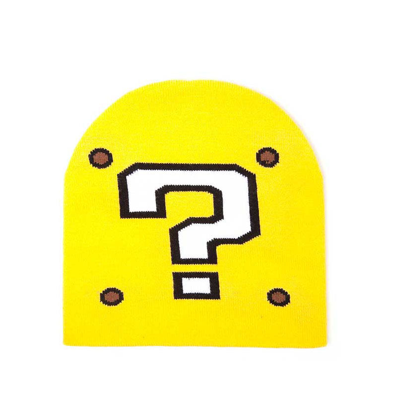 NINTENDO Super Mario Bros. Question Mark Cuffless Beanie, One Size, Yellow (KC170203NTN)