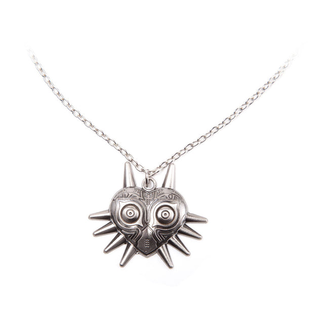 NINTENDO Legend of Zelda Majora's Mask Metal Twisted Link Chain Pendant Necklace, One Size, Silver