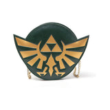 NINTENDO Legend of Zelda Golden Hylian Royal Crest Purse Wallet with Attached Chain, Female, Dark Green (GW140126ZEL)