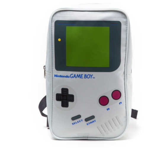 NINTENDO Gameboy Handheld Console Mini Backpack, Grey