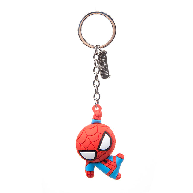 MARVEL COMICS Spider-man Character 3D Pendant Rubber Keychain, One Size, Red (KE020304SPN)