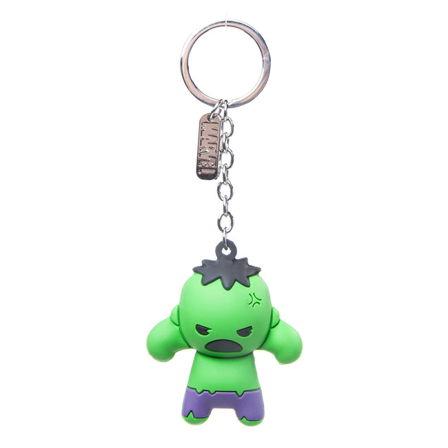 MARVEL COMICS Incredible Hulk Character 3D Pendant Rubber Keychain, One Size, Green (KE020301MAR)