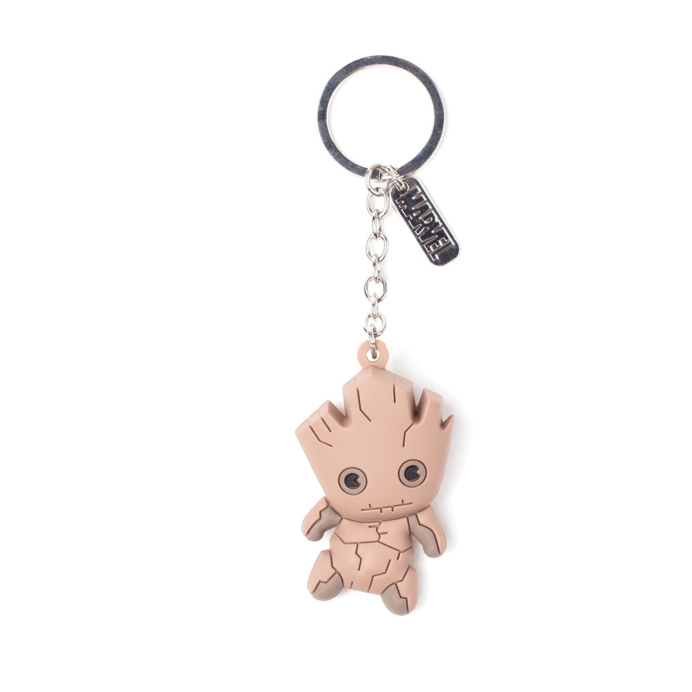 MARVEL COMICS Guardians of the Galaxy Vol.2 Groot Character 3D Pendant Rubber Keychain, One Size, Multi-colour (KE020307GOG)