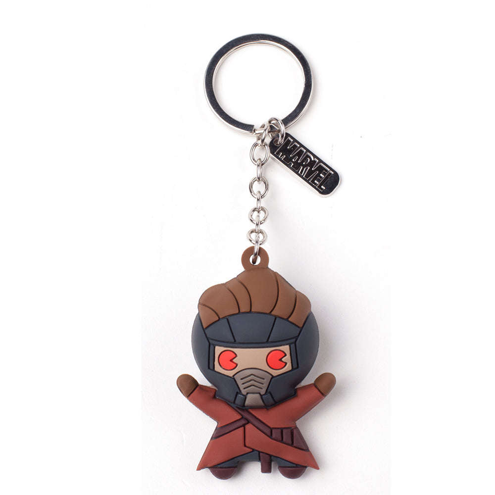 MARVEL COMICS Guardians of the Galaxy Vol.2 Peter Quill/Starlord Character 3D Pendant Rubber Keychain, One Size, Multi-colour (KE020306GOG)