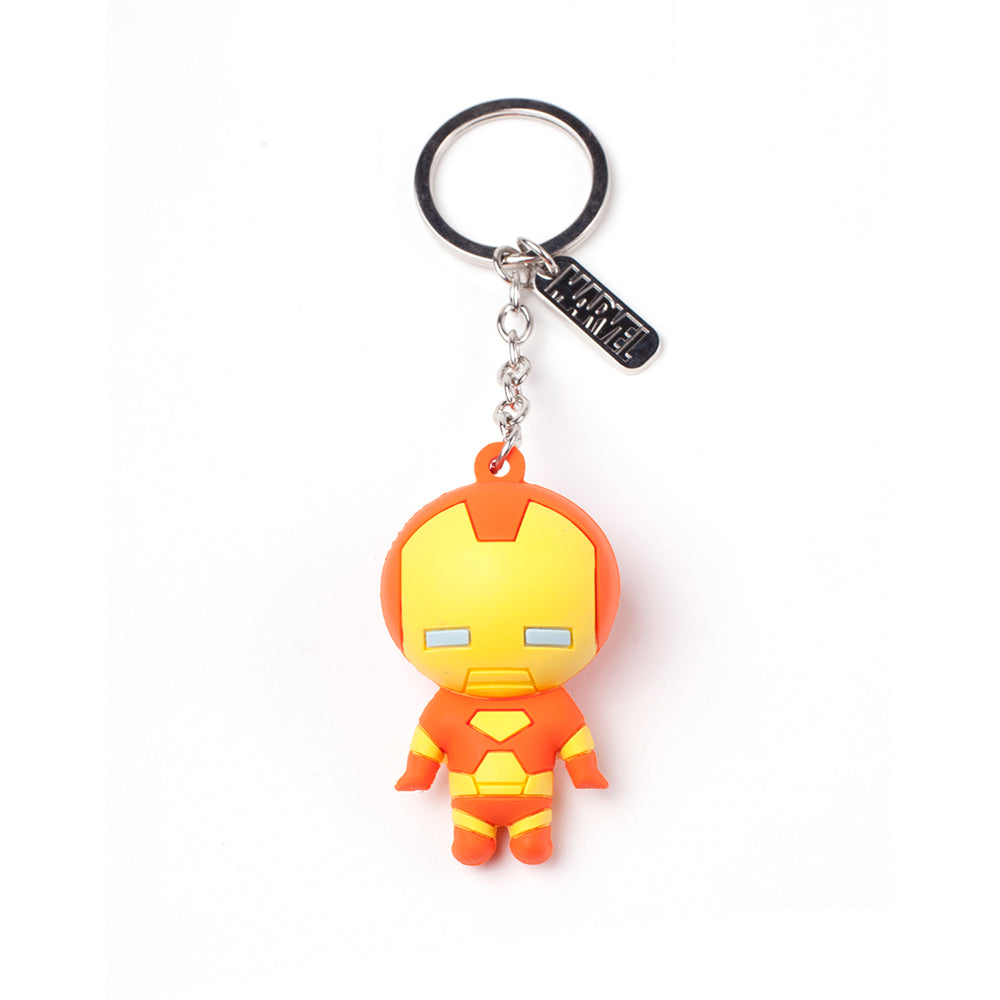 MARVEL COMICS Iron Man Character 3D Pendant Rubber Keychain, One Size, Multi-colour (KE020303MAR)