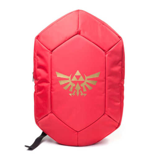 NINTENDO Legend of Zelda Red Rupee 3D Shaped Backpack, Red/Black