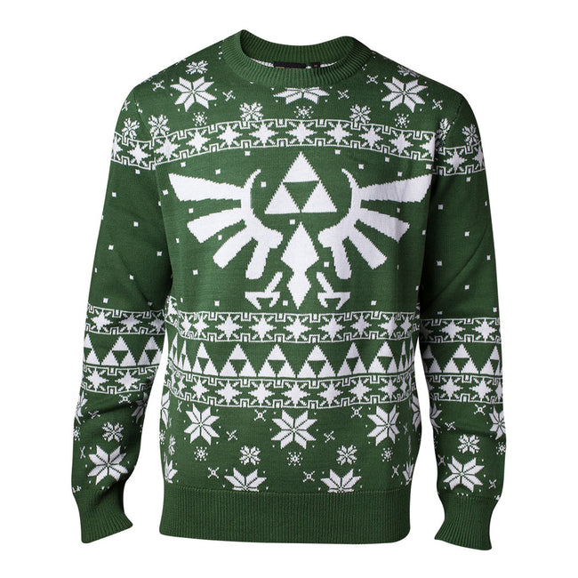 NINTENDO Legend of Zelda Knitted Royal Crest Christmas Sweater