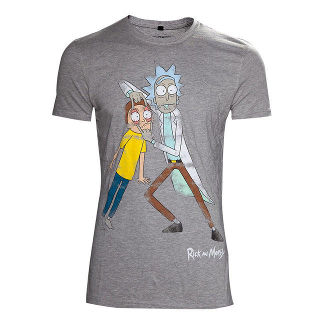 RICK AND MORTY Crazy Eyes Distressed T-Shirt