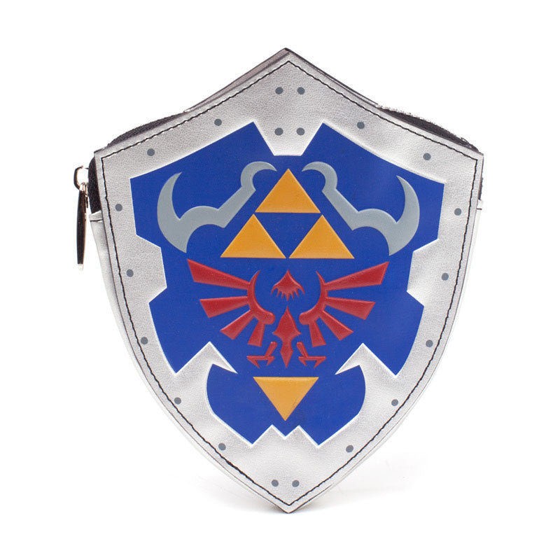 NINTENDO Legend of Zelda Breath of the Wild Shield Shaped Coin Purse, Female, Multi-colour (GW420702BOW)