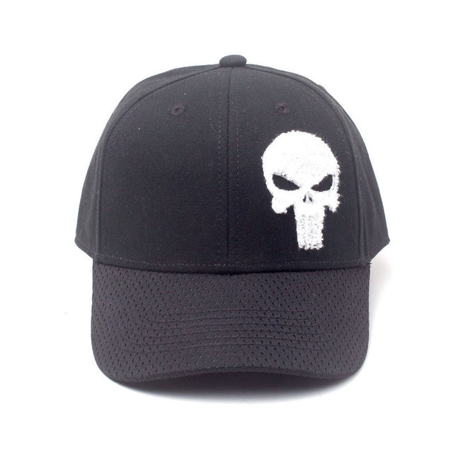 MARVEL COMICS The Punisher Varsity Adjustable Cap, Black (BA020282PUN)