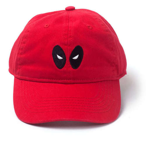 Deadpool Embroidered Eyes Stone Washed Denim Cap