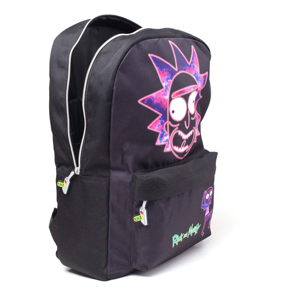 RICK AND MORTY Rick's Neon Face Print Backpack, Black (BP183874RMT)