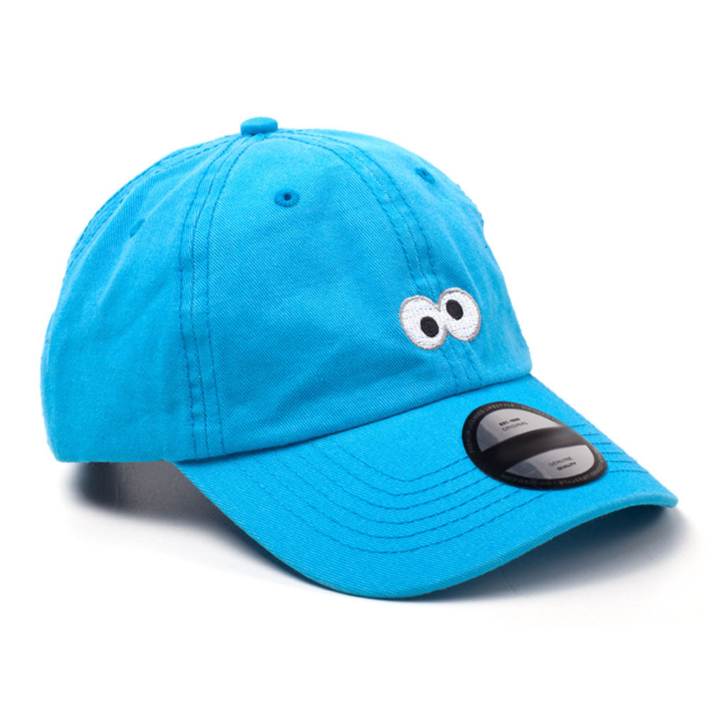 SESAME STREET Cookie Monster Embroidered Eyes Dad Cap, Blue (BA422022SES)