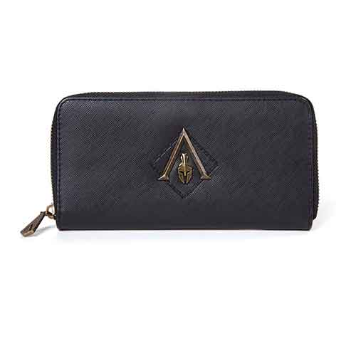 ASSASSIN'S CREED Odyssey Metal Logo Badge Premium Ladies Wallet Purse with All-round Zip