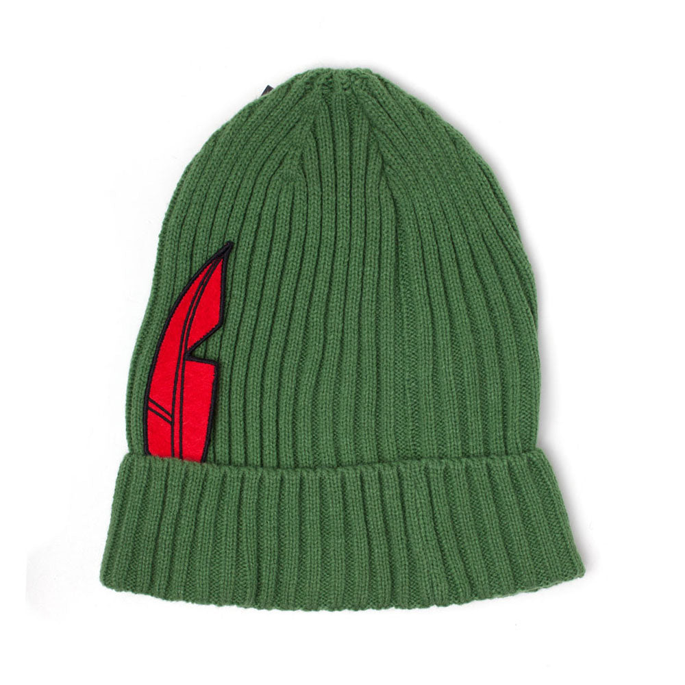DISNEY Peter Pan Feather Novelty Rollup Beanie, Unisex, Green (KC246863DNY)