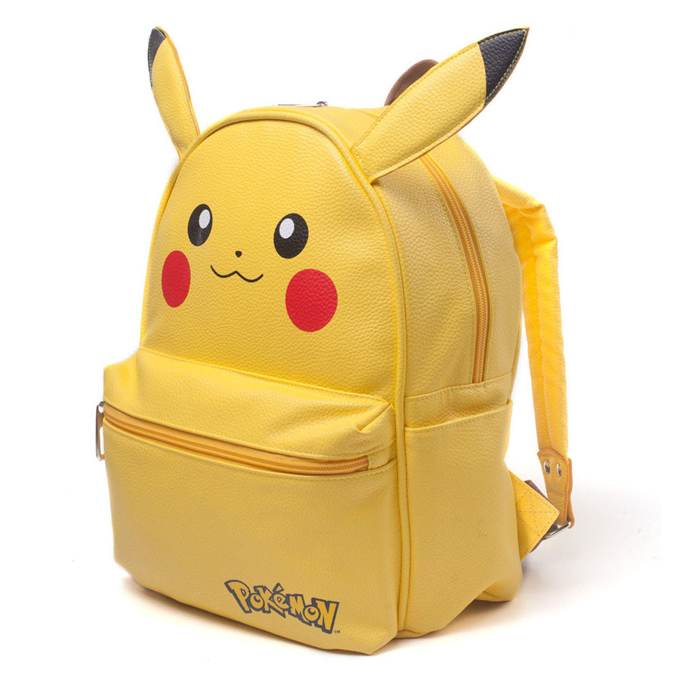 POKEMON Pikachu Shaped Backpack with Ears, Female, Yellow (BP210701POK)