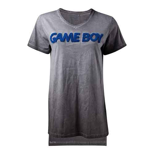 NINTENDO Gameboy 3D Logo Oil Washed fitted T-Shirt
