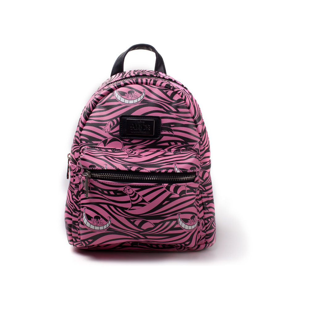 DISNEY Alice in Wonderland Cheshire Cat All-over Print Ladies Backpack, Female, Pink/Black (BP420084AIW)