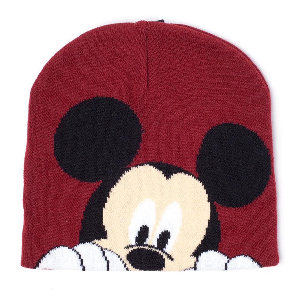 DISNEY Mickey Mouse Magic Jacquard Beanie, Female, Red (KC205616MCK)