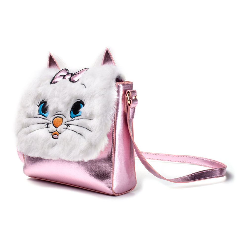 DISNEY The Aristocats Marie Shaped Shoulder Bag with Shoulder Strap, Female, Pink/White (LB201808MRR)