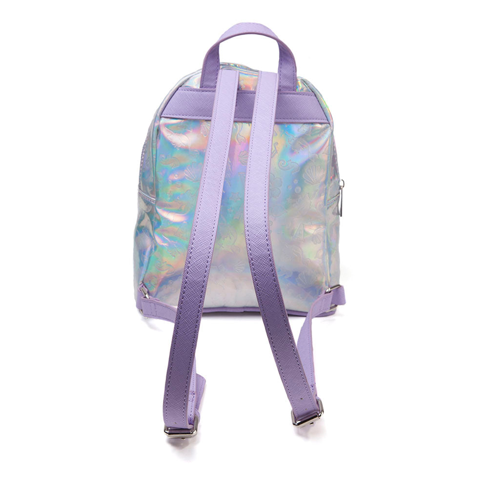 DISNEY The Little Mermaid All-over Debossed Pattern Shimmer Print Ladies Backpack, Female, Multi-colour (MP312507LMR)