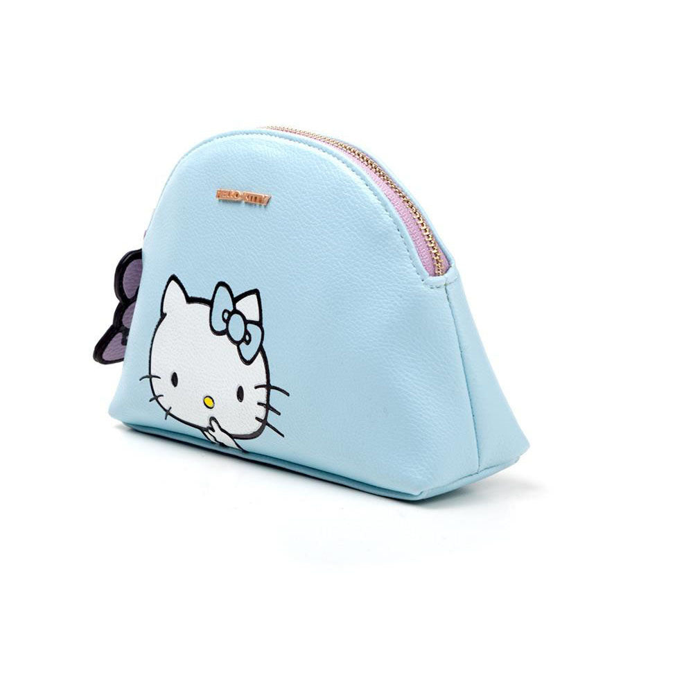 HELLO KITTY Zipped Ladies Makeup Bag, Female, Blue/Pink (CB232482HKT)