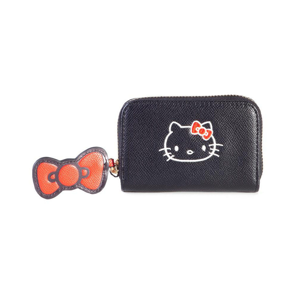 HELLO KITTY Ladies Zip Around Coin Purse, Female, Black/Red (GW665433HKT)