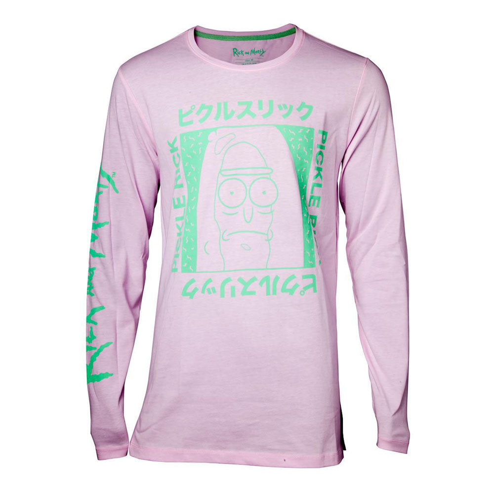 RICK AND MORTY Japan Pickle Long Sleeve Shirt, Male