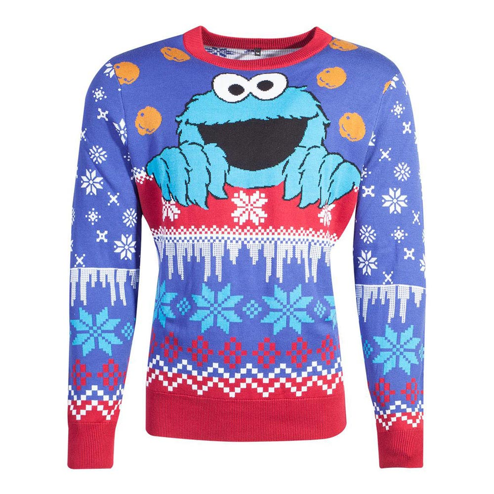 SESAME STREET Cookie Monster Knitted Christmas Sweater