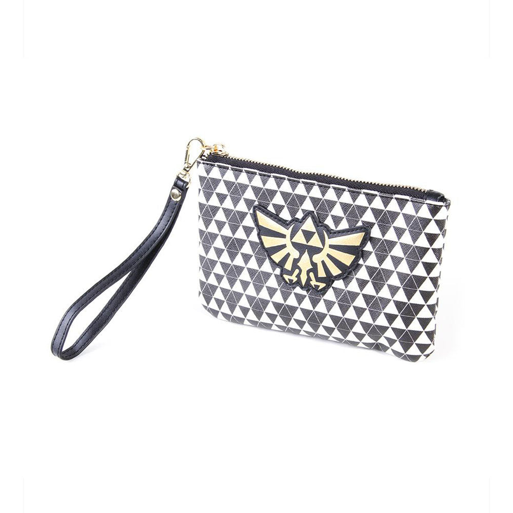 NINTENDO Legend of Zelda Hyrule Royal Crest with All-over Pattern Zipped Coin Purse