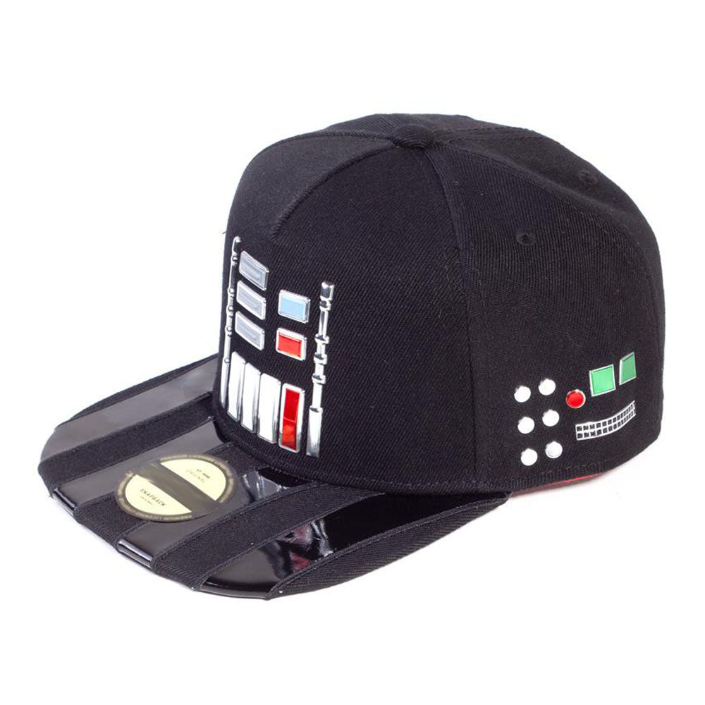 STAR WARS A New Hope Darth Vader Suit Buttons Snapback Baseball Cap, Unisex, Black