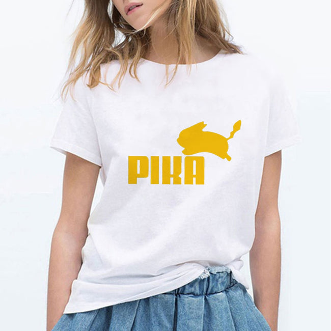 Women T Shirts Pokemon Puma Pika