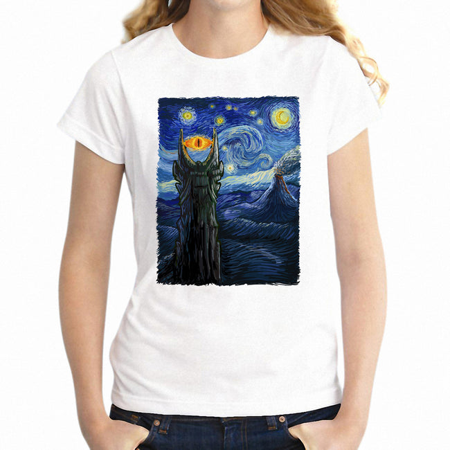 Lord of The Ring The Starry Night Van Goah Crossover Tee