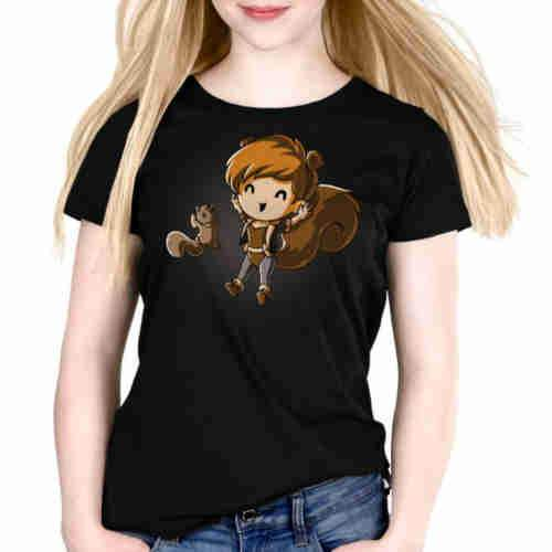 Yay! Squirrel Girl Fitted Tshirt