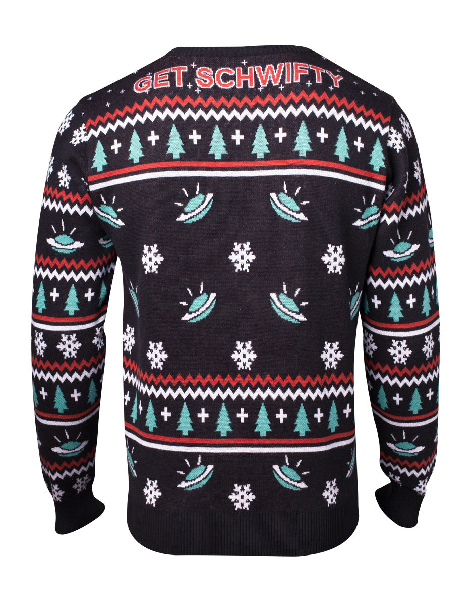 RICK AND MORTY Let's Get Schwifty Christmas Knitted Sweater